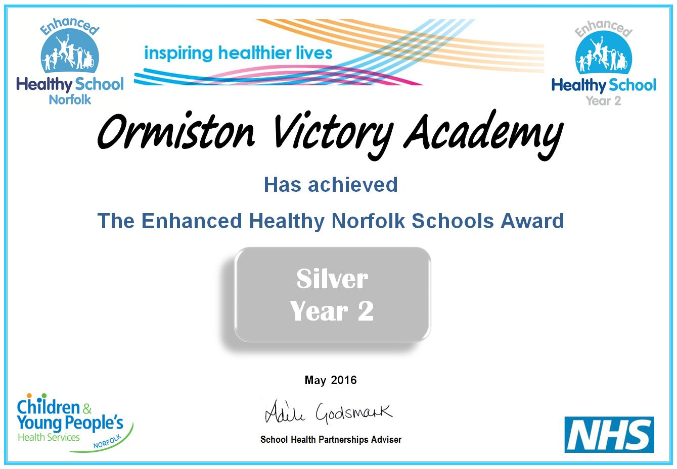 Health Schools Award Year 2